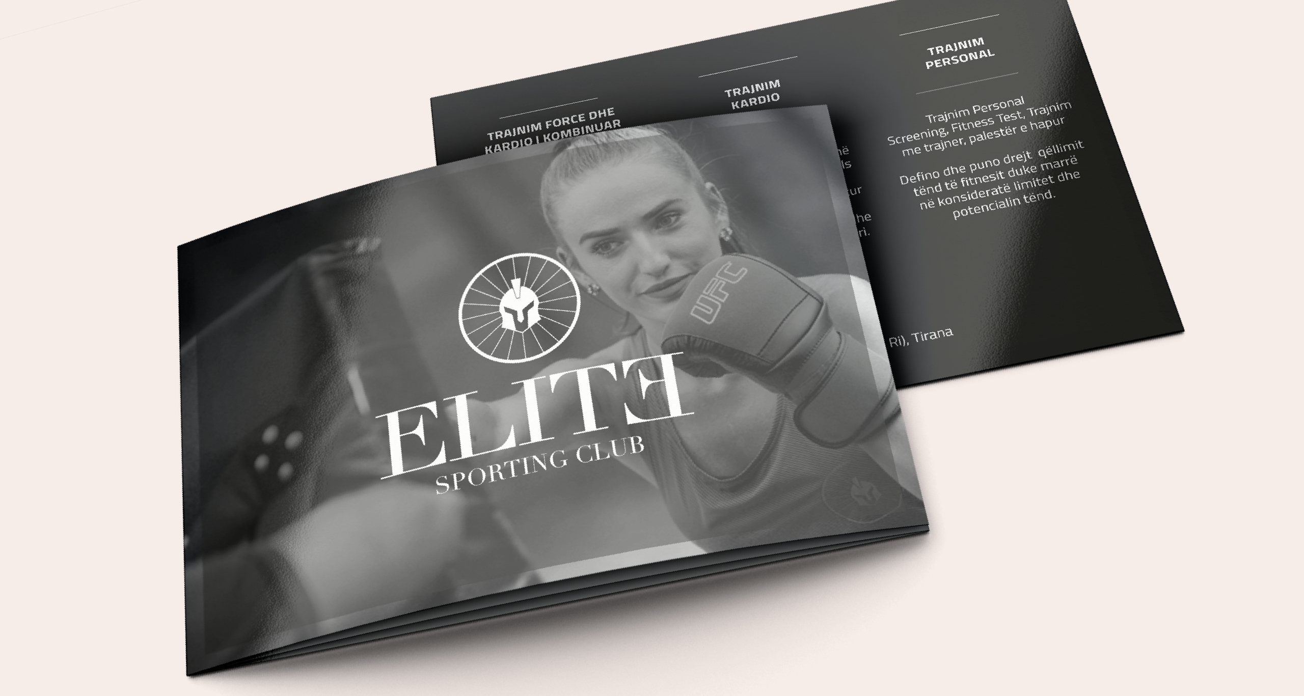Elite Sporting Club logo and handout