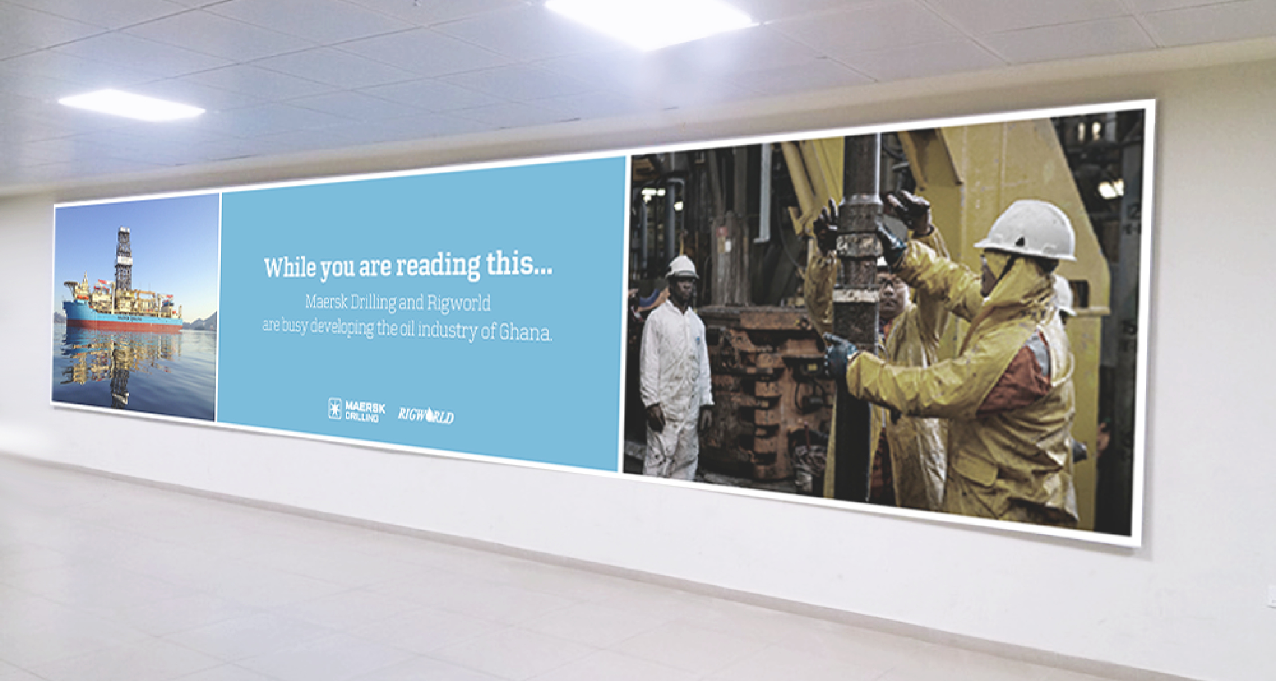 Maersk Line Airport banner