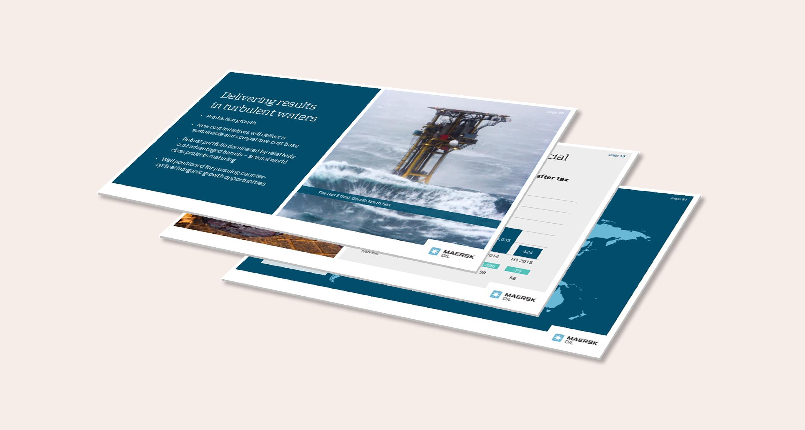 Maersk Oil Powerpoint præsentationer